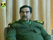 Iraqi President Saddam Hussein 