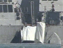 The October 2000 attack on the USS Cole was blamed on al Qaeda.