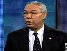 Powell vowed to try to retrieve Iraqi museum pieces looted during the U.S.-led war in Iraq.
