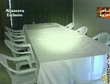 Al-Jazeera reports this is Saddam's improvised Cabinet room.