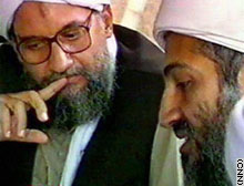 Al-Zawahiri is seen with bin Laden in a file photograph.