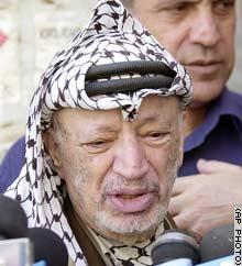 Palestinian Authority President Yasser Arafat