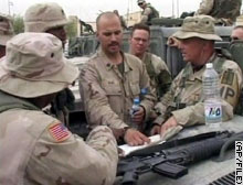 U.S. Marines have handed over military control of Karbala to Bulgaria.