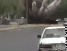A video made available on the Internet apparently shows an attack on an American Humvee in Baghdad.