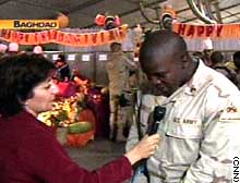 Jane Arraf with Sgt. Charles Green in Baghdad