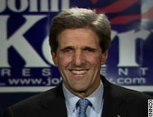 Democratic presidential front-runner Sen. John Kerry of Massachusetts