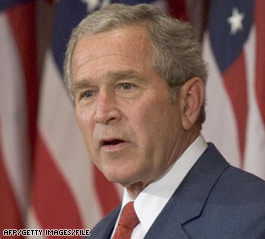 Bush: Benchmarks report 'cause for optimism'