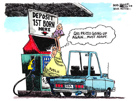 an analysis of an editorial and cartoon on rising gas prices Food prices skyrocketed in the mid–1970s as presidents richard  wood drew this cartoon while chief editorial cartoonist at the.