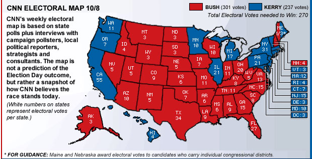 Have you guys seen the new CNN Electoral Map? (8 Oct 2004)
