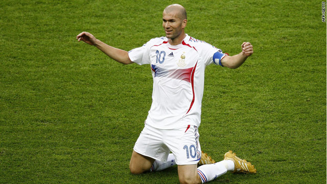 First XI  Noughties soccer villainsZinedine Zidane Celebration