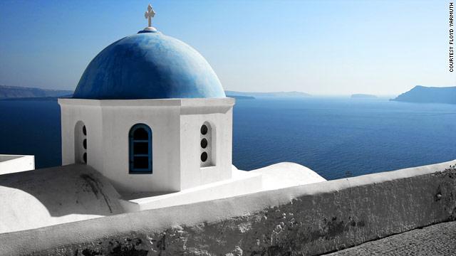 Gallery: Gorgeous Greek islands mediterranian villa pool 600x350  architecture .