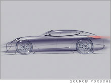 Porsche released this sketch of the Panamera.