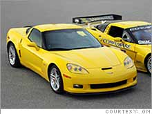 Corvette Z06 beside the C6R racecar.