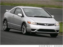 The Honda Civic Si, one of the four new models of the best-selling compact honored as Motor Trend's Car of the Year.