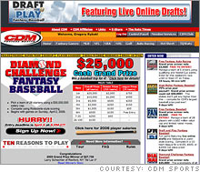 The picture-free fantasy baseball site of CDM Sports, the company that won the rights case against MLB and the players union this week.