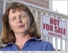 eminent domain in the 2005 court case of susette kelo v the city of new london connecticut Story of the use of eminent domain by the city of new london,  focus on susette kelo,  kelo v new london supreme court case ruling that upheld.