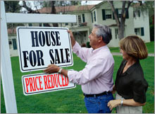 The slump in existing home prices reached a sixth straight month in January, according to the latest report from the National Association of Realtors.