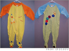 Baby Einstein pajamas recalled