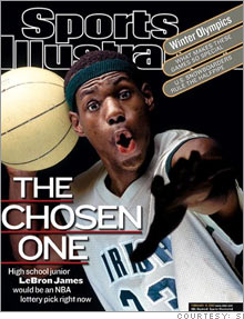 LeBron was being heralded as the NBA's next superstar when he was still in high school.