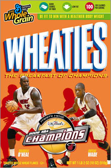Dwyane Wade found himself on the Wheaties box after he won the NBA Finals MVP a year ago.