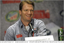 Dale Earnhardt Jr. at his press conference Wednesday announcing his lucrative sponsorship deals.