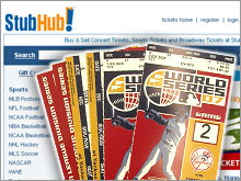 StubHub signed a sponsorship deal with Major League Baseball in 2007, but saw the NFL go with rival TicketMaster.