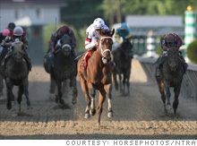 Big Brown cruises to an easy win the Preakness, setting up his try for horse racing's Triple Crown at the Belmont.