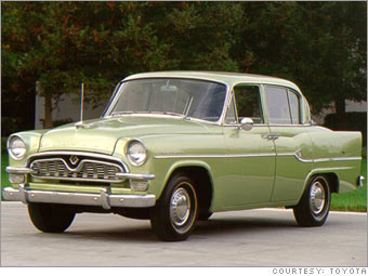 Years Of Toyota In The U S Toyopet Crown Cnnmoney Com