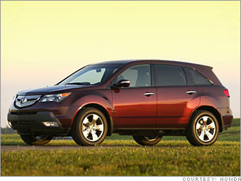 Best Resale Value Cars By Type Acura MDX CNNMoneycom - Acura mdx value