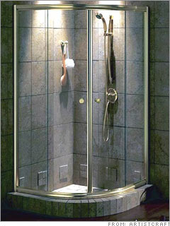 Add glass shower doors