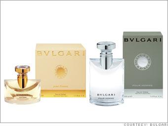 Bulgari Pour Homme and Pour Femme fragrances