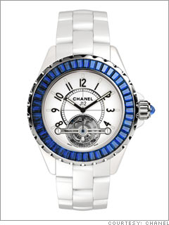 Chanel J12 with blue sapphires