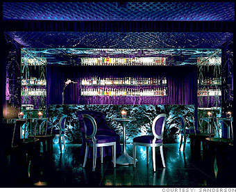 Purple Bar at the Sanderson in London