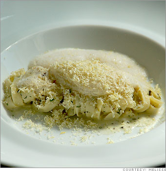 Macaroni and cheese with white truffles