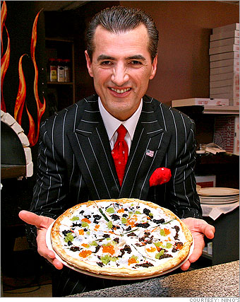 Nino's pizza with caviar