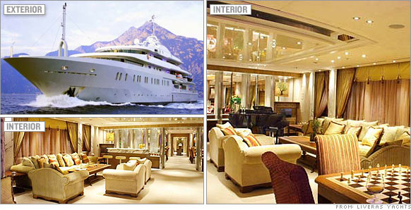 At 280 Feet The Alysia Is One Of Worlds Largest Yachts For Charter And Most Expensive With A Plunge Pool Library Theater Mirrored Ceilings