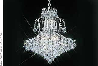 crystal chandelier chrome and swarovski crystal chandelier - Swarovski Crystal Chandelier