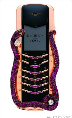 Vertu Signature Cobra Cell Phone by Boucheron