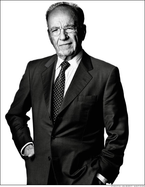 Mr. Murdoch Eyeing International News (courtesy of Albert Watson)