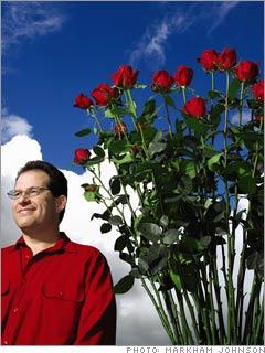 Six-foot roses